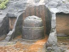 Small Stupa Outside The Main Caves