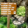 Trailhead Sign Displaying The Sutherland Trail