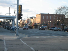 A View Of Downtown Sycamore, Toward The George\\\'s Block And The Citizens National Bank Building.