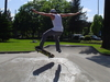 Teen Male Skater In  Salem  Oregon Park Jump
