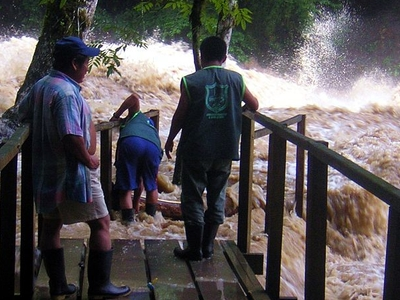 The Cahabòn In Flood At Semuc Champey