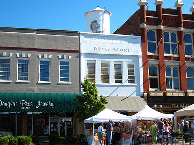 The Downtown Square In Troy.