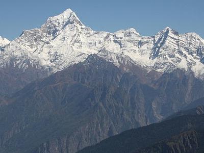 The Dunagiri From Kuari-Pass