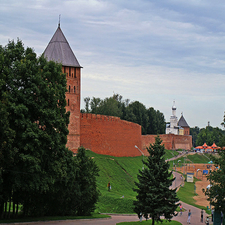 The Eastern Wall Of The Novgorod Kremlin