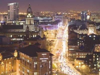 The Headrow Leeds City Centre At Night