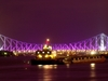 The Illuminated Howrah Bridge At Night