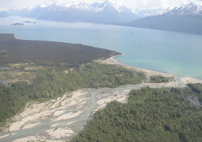 The Kijik River Where It Flows Into Lake Clark.