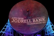 The Lovell Telescope Illuminated During Jodrell Bank Live