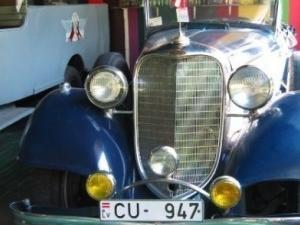El museo de vehículos antiguos