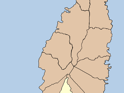 The Quarter Of Laborie With The Village Marked In Red