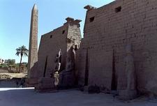 The Remaining Obelisk At Luxor Temple Pylon