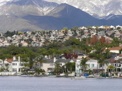 The Saddleback Mountains And Lake Mission Viejo