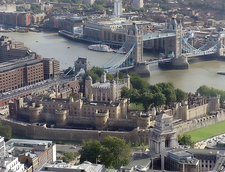 The Tower With The River Thames And Tower Bridge To The South