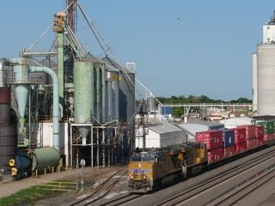 The Union Pacific Railroads Main Line Runs Through Elm Creek.