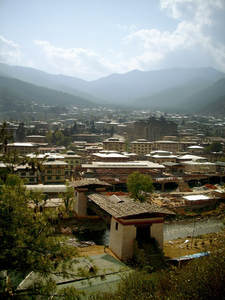 Thimphu City In The Valley