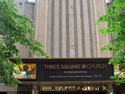Front Entrance Of Times Square Church