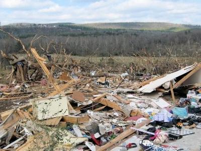 Tornado Damage  Clinton