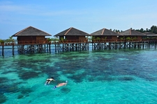 Tourist Accommodation At Mabul Island In Sabah
