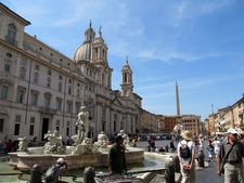 Tourists At Piazza Navona - Rome