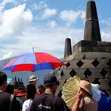 Tourists In Borobudur