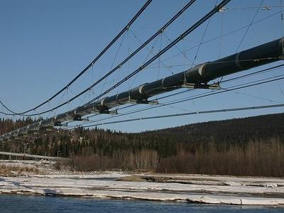 Trans-Alaska Pipeline Over Tanana