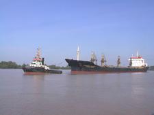 Tug With Bulk Carrier