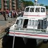 Turku Aura River With Cruise Boat