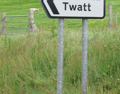 Twatt Road Sign