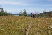 Two Ocean & Emma Matilda Lakes Trail Hikers - Grand Tetons - Wyoming - USA