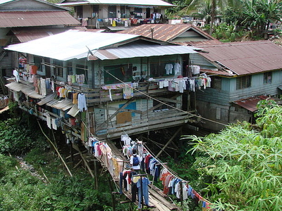 Typical Houses In Kapit