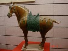 A Sancai Ceramic Horse