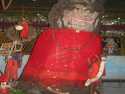 The Linga Inside Ketekeswar Dewalaya