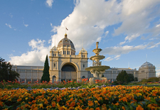 The Royal Exhibition Building Showing The Fountain On The Southe