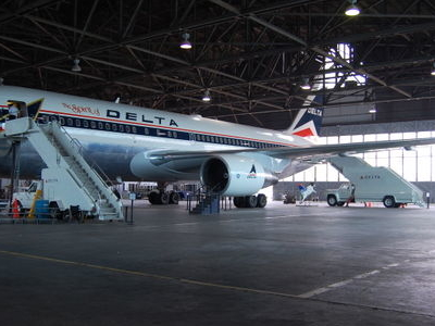 The Spirit Of Delta In Restoration Hangar