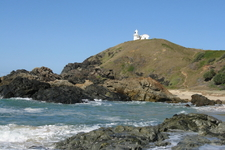 Tacking Point Lighthouse Viewed From Miners Beach