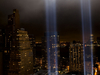 Tribute In  Light From One  Exchange Plaza  September