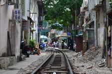 Train Track At Old Quarter