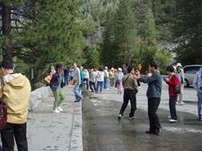 Tourists Enjoying Yosemite's Tunnel View