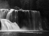 Upper Lewis River Falls - BW
