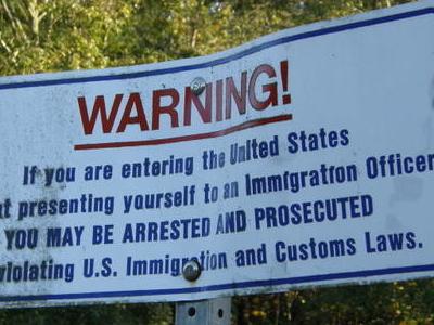 U S  Border  Notice