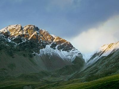 Piz Cotschen From Umbrail Pass