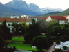 View Over The Red Square Of Stellenbosch University