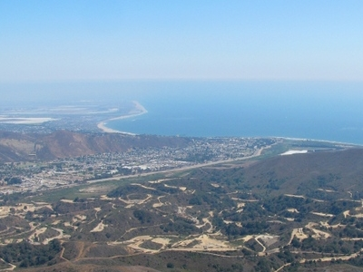 Ventura California Viewed From The Northwest Oil Fields In Foreg