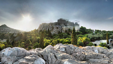 View Acropolis From Athens