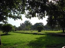 View Across Garden Towards Marble Mausoleum