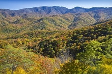 View Blue Ridge Mountains From Parkway - North Carolina