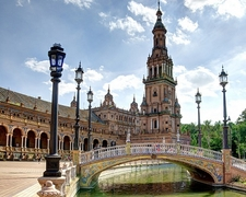 View Bridge Over Canal - Plaza De Espana At Seville - Andalusia