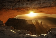 View Canyonlands NP From Mesa Arch
