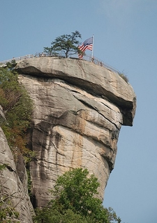 View Chimney Rock From Below NC
