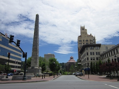 View Downtown Asheville NC